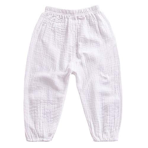 Miyanuby Bebé Niñas Niños Pantalones Bloomers Pantalones de Chándal Sólidos de Verano Pantalones Elásticos Casuales para Bebé Unisex