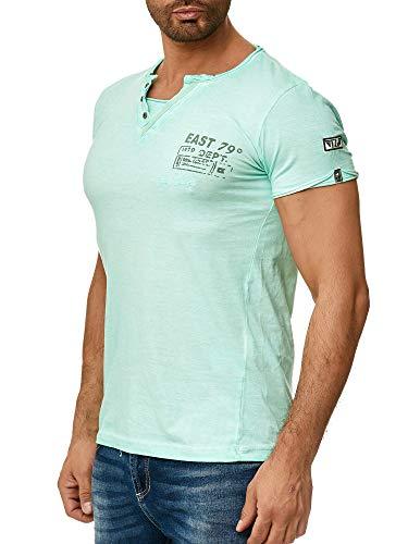 Tazzio Herren T-Shirt mit V-Halsausschitt 4060 Mint XL