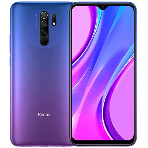 "Xiaomi Redmi 9 64GB, 4GB RAM, 6.53"" Full HD + AI Quad Camera, LTE Factory Unlocked Smartphone - International Version (Sunset Purple)"
