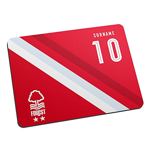 Made Just For You Official Licensed Nottingham Forest FC Stripe Mouse Mat