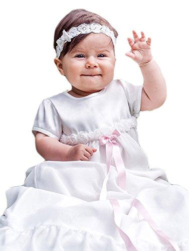 Grace of Sweden - Costume de baptême - Bébé (garçon) 0 à 24 mois blanc cassé pink bow 80, 10-14 month, chest 19,5 in.