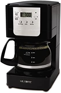 Mr. Coffee Advanced Brew 5 Cup Programmable Coffee Maker Black/Chrome