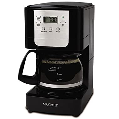 Mr. Coffee Advanced Brew 5-Cup Programmable Coffee Maker Black/Chrome