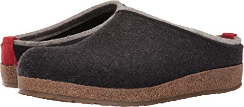 HAFLINGER Unisex Grizzly Kris Wool Clogs, Charcoal, 39EU