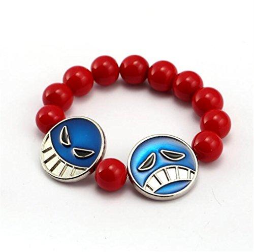 YOIL Exquisite und Kompakte Schmuck Dekoration Anime Muster Armband DIY Perlen Armband (rot)