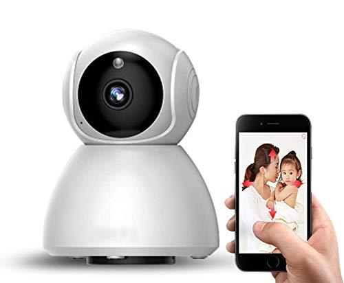 CCCLLL Kamera IP, mit Drehbare Nachtsicht Wireless Home Sicherheit Überwachung Kamera für Indoor-Baby/Haustier-Monitor (2 Wege Audio/Bewegungserkennung),Weiß