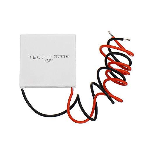 Módulo electrónico Cooler Thermoeléctrico Peltier 40 * 40 mm 12V Peltier Refrigeración Módulo Semiconductor Hoja de refrigeración TEC1-12705 Equipo electrónico de alta precisión