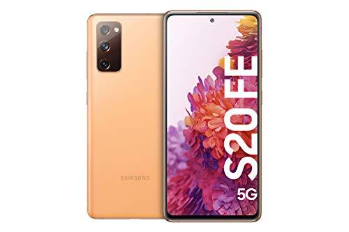 Samsung Galaxy S20 FE 5G, Android Smartphone ohne Vertrag, 6,5 Zoll Super AMOLED Bildschirm, 4.500 mAh Akku, 128 GB/ 6 GB RAM, Handy in Orange inkl. 36 Monate Herstellergarantie [Exklusiv bei Amazon]