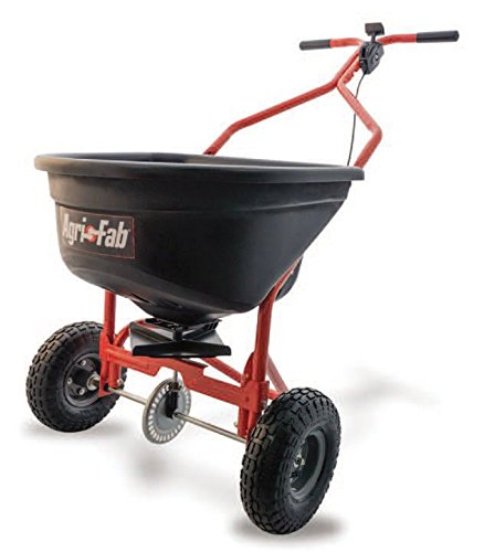 Agri-Fab 45-0526 Push Spreader, 110 lb Capacity, Orange/Black