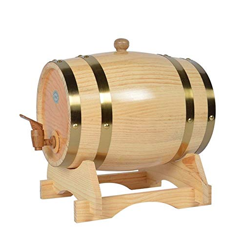 LXESWM Fässer Eichen, Weinfass, Holzfass, Weinglas, Oval Weinregal, Eichenfässer Lagerwein, Rotwein, Schnaps Und Bier Vom Fass, 3L5L10L15L (Capacity : 5L, Farbe : C)