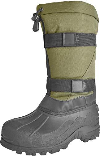 normani Stiefel für den Winter/Kälteschutzstiefel/alle Größen 35-48 Farbe Oliv Größe 45/46