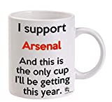 Arsenal Premier League Funny Meme Football Tea Cup Coffee Mug Great Gift For Any Supporter Of Liverpool, Manchester, Tottenham To Give To Any Arsenal Fan For Work Office Machine Washable