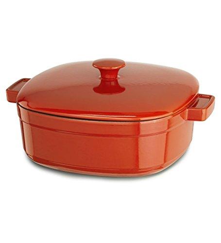 KitchenAid Streamline Cast Iron 3-Quart Casserole Cookware - Autumn Glimmer