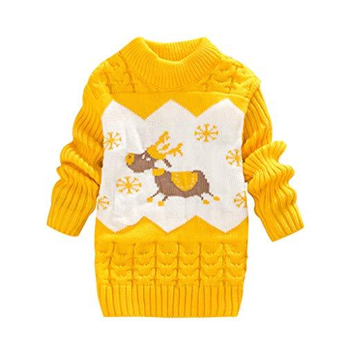LEXUPE Baby Mädchen Kleid Weihnachten Bekleidung Set Strampler Tütü Bodys + Kopfband 0-18 Monate(Gelb,80/12)