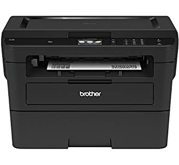 Brother Compact Monochrome Laser Printer HLL2395DW Flatbed Copy & Scan Wireless Printing NFC Cloud-Based Printing & Scanning Amazon Dash Replenishment Enabled  Renewed