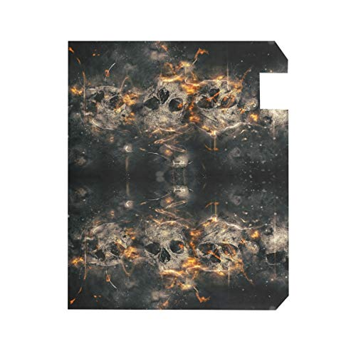 ZZKKO Skull Fire Magnetic Mailbox Cover Wrap Post Letter Box Cover for Outside Garden Home Decor Large Size 25.5 x 20.8 Inch