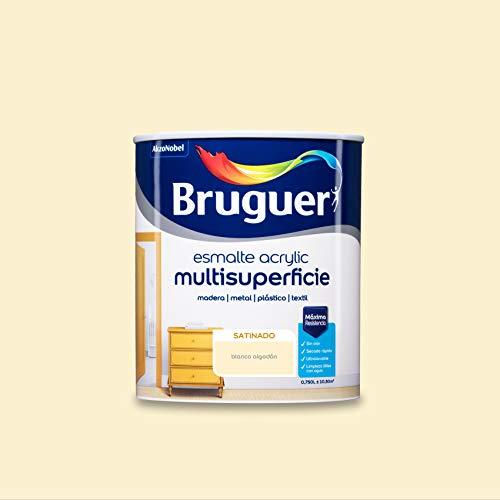 Bruguer Acrylic Multisuperficie Esmalte al agua Satinado Blanco Algodón 750 ml