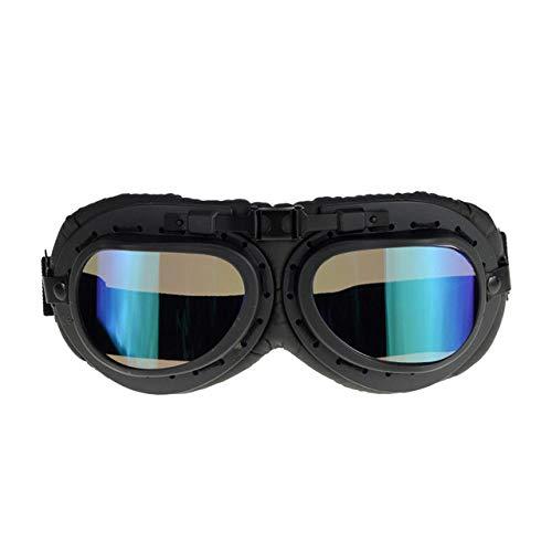 ABMBERTH Schutzbrille kühle Retro MotorradschutzbrillenSchutz Eyewear Objektivschutzbrille für Sturzhelm, E4