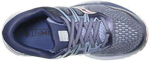 Saucony Women's Omni ISO 2 Running Shoe, Slate/Pink, 9.5 M US
