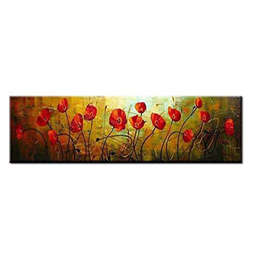 Gbwzz Dipinti a Mano Originali Fiori Astratti Paesaggio Dipinto ad Olio su Tela Quadri murali Immagini per Soggiorno Decorazioni per la casa Senza Cor
