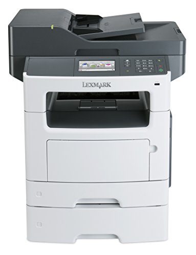 Lexmark MX511dte Monochrome All-In One Laser Printer with 550 Sheet Tray, Scan, Copy, Network Ready, Duplex Printing and Professional Features,White