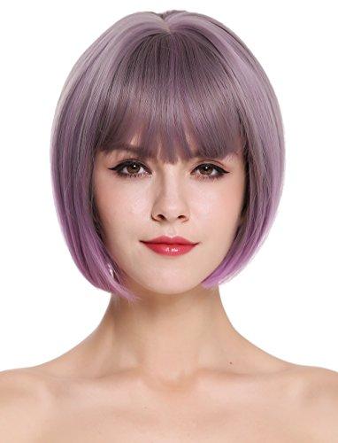 haz tu compra pelucas lila corta online