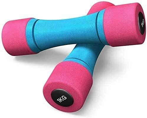 TGFVGHB Juego de 2 pesas de mano con mancuernas perfectas para practicar deporte, esculpir el cuerpo, para hacer ejercicio, culturismo, gimnasio, mujeres, niñas