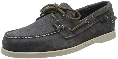 Sebago Docksides Portland Suede, Men's 7000G90 Boat Shoes White (Dk Grey 917) 11 UK