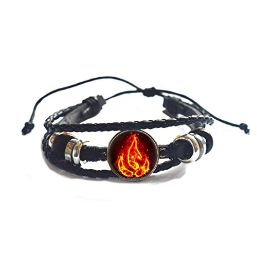 Wklo0avmg Fire Symbol Bracelet, Fire Emblem Bangle, Four Elements Art Gifts, for Her, for him,QK0O348
