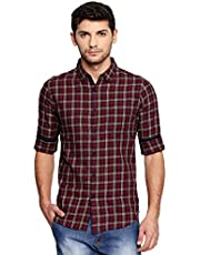 Dennis Lingo Men's Checkered Slim fit Shirt