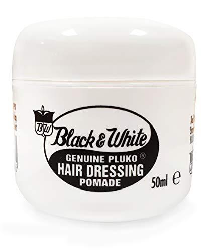 Noir Et Blanc Pommade Véritable De Coiffure Pluko (50 Ml)