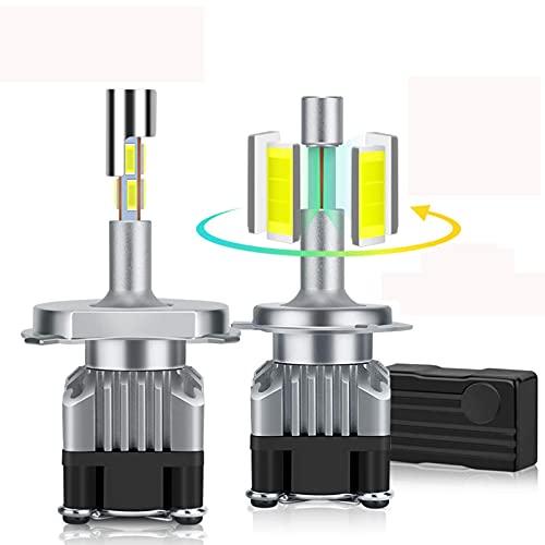 SONGYU 18000LM 4 Lados Canbus H7 LED Faro H1 H4 9005 HB3 9006 HB4 LED H8 H11 Bombilla 6500K Lámpara Luz antiniebla automática de diodo de 360 Grados, 9005 / hb3