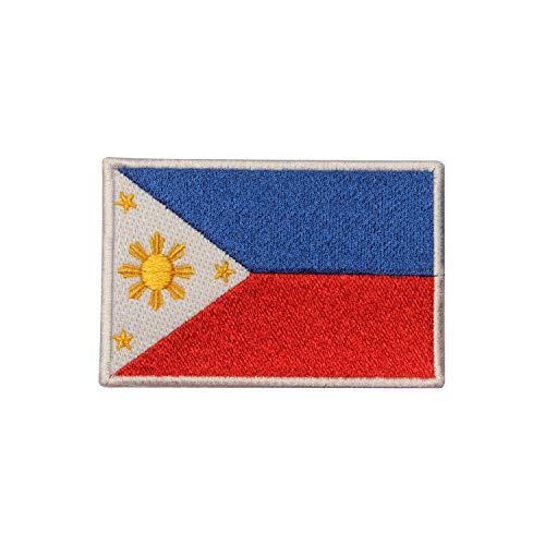 Aufnäher mit Flagge der Philippinen, zum Aufbügeln oder Aufnähen