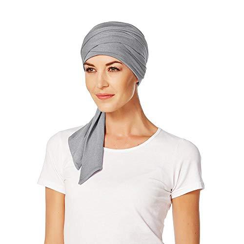 Christine Headwear Christine Headwear Mantra Bambus Uni Turban Kopftuch Damenturban Chemo-Kopfbedeckung (One Size - grau)
