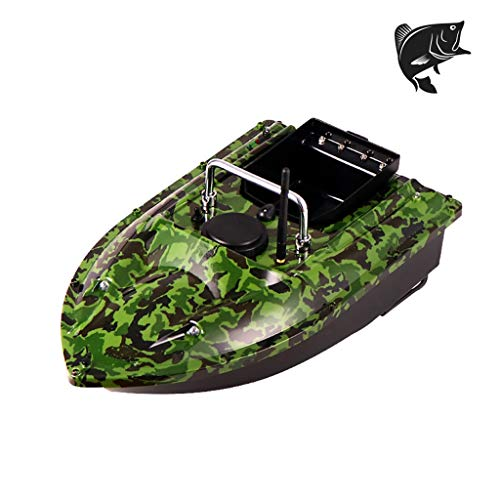 AHWZ Fishing Bait Boat 500M Remote Control Fish Finder Bait Boat,Green
