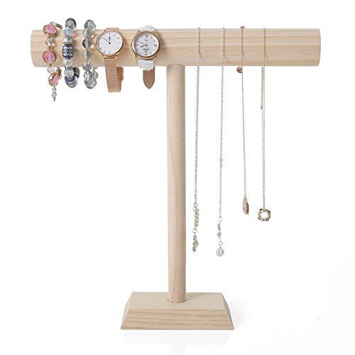 De Madera En T Exibidor Soporte De Joyería Joyas Relojes Collares Y Pulseras Brazaletes Organizador De Joyas para Tienda De Dormitorio Tienda O Feria De Artesanías,L