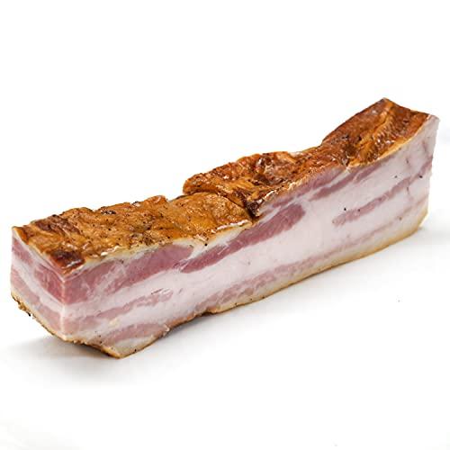 グルメソムリエ ベーコン ブロック 国産 熟成 バラベーコン 特製スパイス 日光HIMITSU豚 SPF豚 Smoked Bacon Block (200g×4パック)