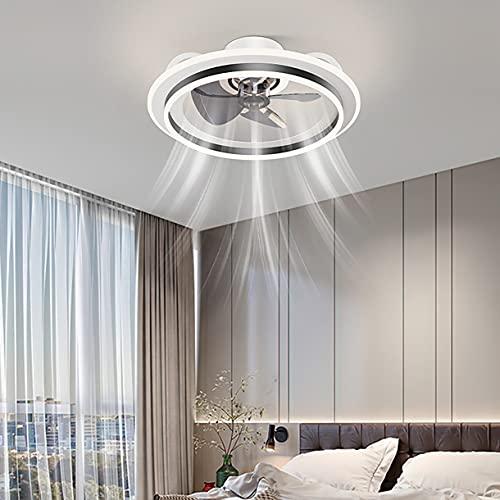 Ventilador Techo Con Luz Regulable Lampara Ventilador Techo Mando A Distancia Ventilador De Techo Silencioso Luz Ventilador Techo Dormitorio 3 Velocidades Lampara Colgante