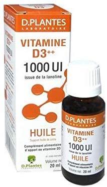 D.Plantes - Vitamine D3++ 1000 UI - Huile - 20ml - Lot de 2