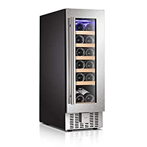 Antarctic Star 12″ Wine Cooler Beverage Refrigerator Beer Mini Fridge...