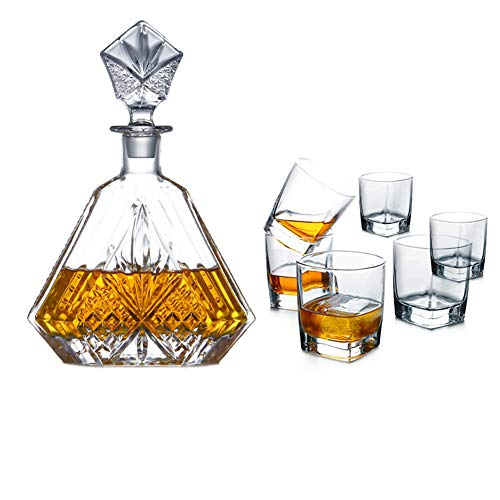 Juego de vasos de whisky, regalos para hombres, vaso sin plomo, material...
