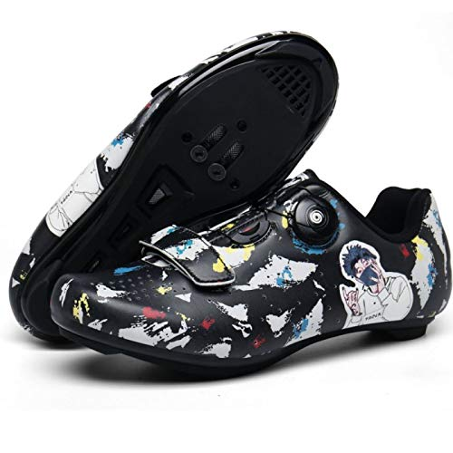 Calzado de Bicicleta de Carretera para Hombre,Zapatillas de Ciclismo Mujer Zapatillas de...