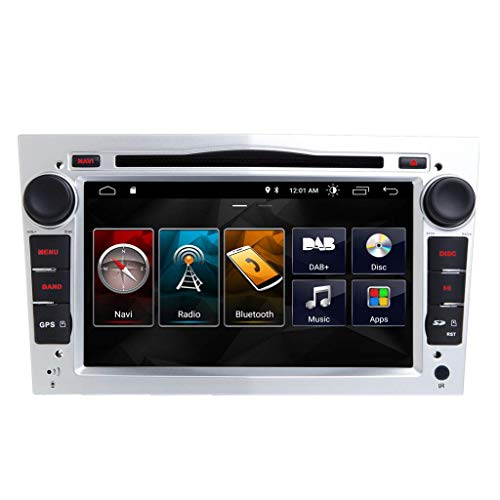 JIBO 7' Android 10 Estéreo GPS Navegación Multimedia DVD Jugador por Opel Vauxhall Corsa 2006-2011 Nav Sat Auto Cabeza Unidad Tocar Pantalla En línea Desconectado Mapas Video Receptor