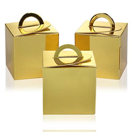 NALERギフト ミニ ボックス ラッピング? プレゼント 包装 ゴールド 金色 ゴールド お菓子 誕生日 クリスマス ハロウィン クッキー スイーツ キャンディ? 結婚式 パーティー 組み立て式? かわいい シンプル 12個セット 飾り 贈り物 好意