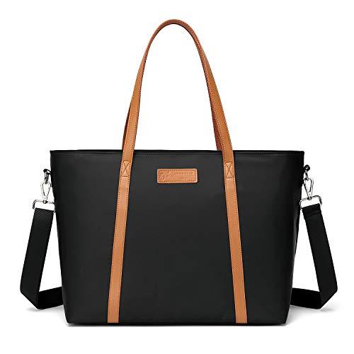 Laptop-Tragetasche für Damen, Laptop-Tasche, Arbeit, Schultertasche, mit Trolley-Tasche