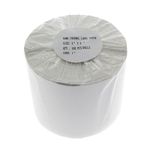 Thermo Etiketten Druckerrolle 4x6 Direktversand Etiketten für Zebra Drucker ZP-500 ZP-450 ZP505 2 Roll weiß