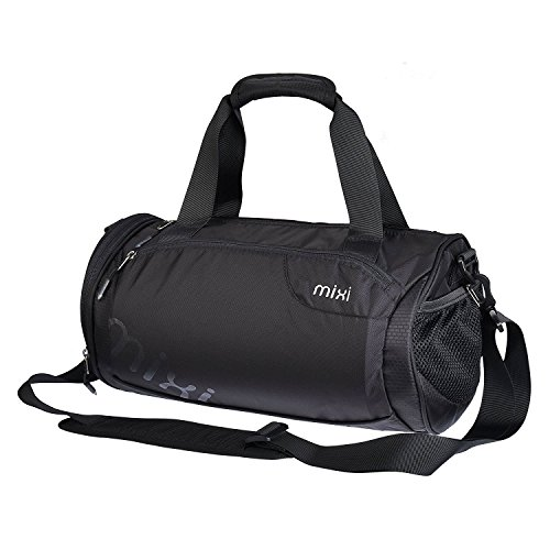 "NUOVO! Mixi Trendsetter Gym Bag / Carry On Sport Travel Bag a tracolla, zip Compartimenti (smoking nero, 18"")"