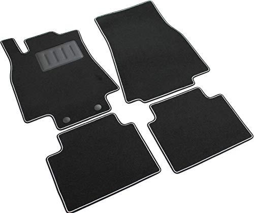 Het vloerkleed auto, sprint02902, vloermatten tapijten zwart, antislip, versterkte rand, tweekleurig, hakbeschermers van rubber, A-klasse W169 3/5-deurs 2004 > 2012.