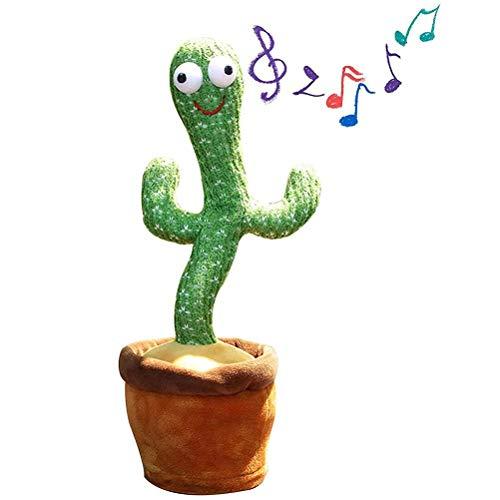fansheng Dancing Cactus Funny Plush Toys Giocattoli elettronici per l'educazione della Prima Infanzia, ottimi per Regali di Compleanno e di Natale.