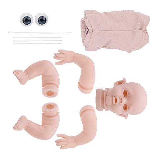 【Venta del día de la Madre】 AMONIDA Piezas de muñeca, Piezas de Juguete Reborn Doll, Vinilo Reborn Doll para bebé Juguete para niños(12inch, White)